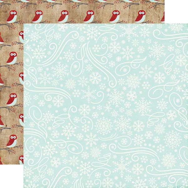 A Perfect Winter Snowflake Swirls 12x12