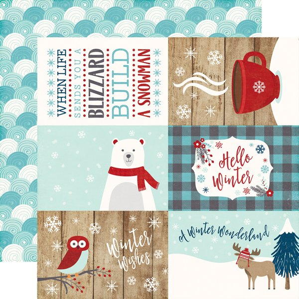 A Perfect Winter 4x6 journaling Cards