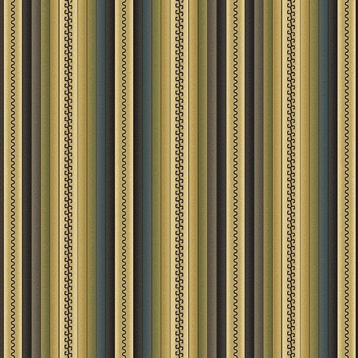 Benartex Shadow Mountain - Blanket Stripe Teal/Multi