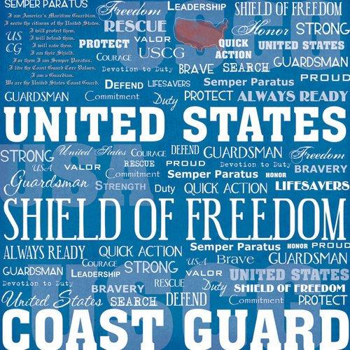 Scrapbook Customs-Coast Guard Diagonal/Coast Guard Live For 12x12 Paper