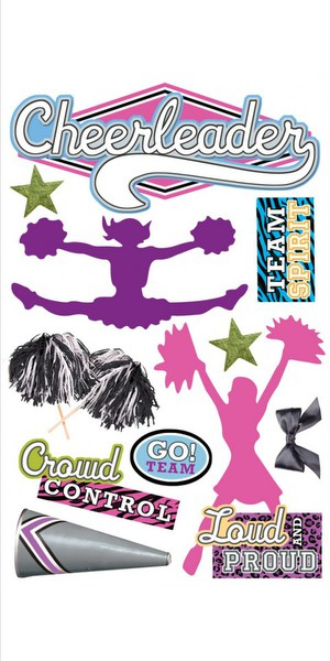 Paper House - Cheerleader 3D  Layered Stickers