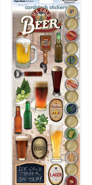 Paper House - Beer Cardstock Stickers