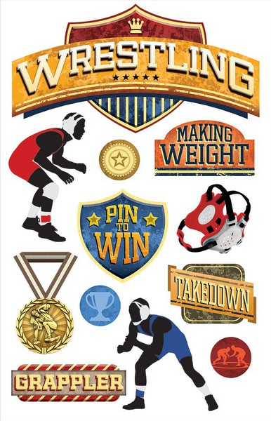 Paper House - Wrestling Layered 3D Sticker