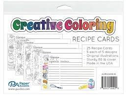 Paper Accents-Creative Coloring Recipe Cards 25pcs