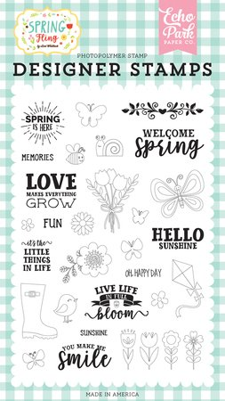 Echo Park - Spring Is Here Stamp Set
