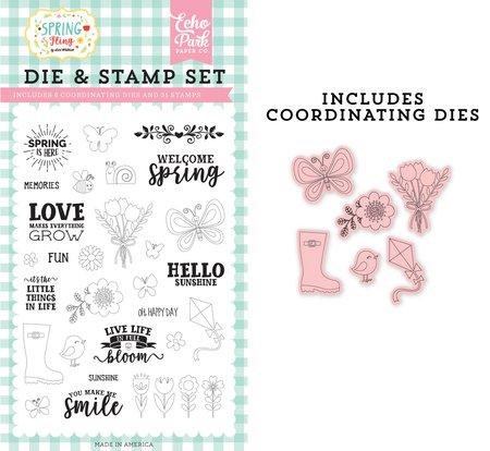 Echo Park - Spring is Here Die & Stamp Set