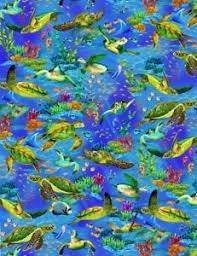 Timeless Treasures - Michael C6154 Ocean