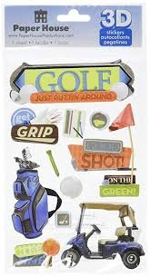 Paper House - Golf 3D Layered Stickers