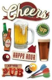 Paper House - Cheers Layered 3D Stickers