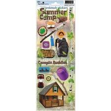 Paper House - Summer Camp Cardstock Stickers
