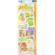 Paper House - Baby Shower Cardstock Stickers