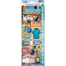 Paper House - Let's Go Bowling Cardstock Stickers