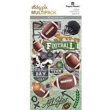Paper House - Football Stcky Pix Multi Pack