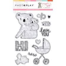 Photo Play - Snuggle Up Girl PhotPolymer Stamp