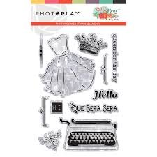 Photo Play - Belle Fleur PhotoPolymer Stamps