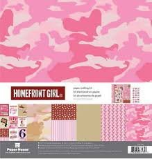 Paper House - Home Front Girl Pink Camo Crafting Kit