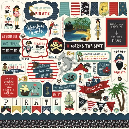 Echo Park - Pirate Tales Element Stickers 12x12
