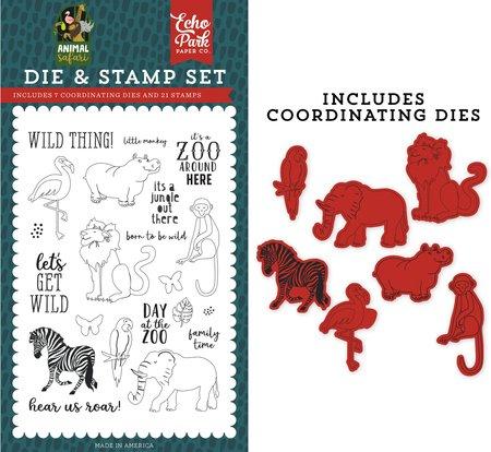 Echo Park - Wild Thing Die & Stamp Set