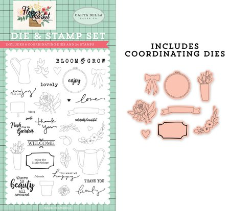 Carta Bella - Beauty All Around Die & Stamp Set