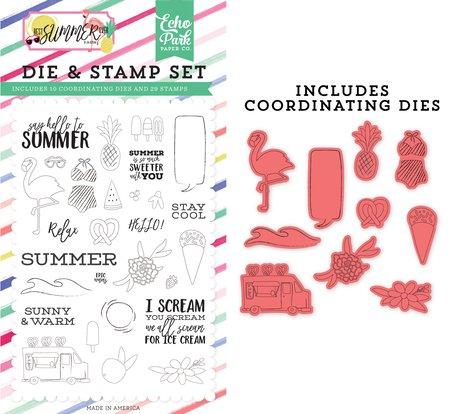 Echo Park - Say Hello to Summer Die & Stamp Set