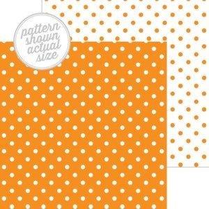 Doodlebug - Mandarin Swiss Dot 12x12 Paper