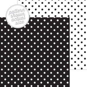 Doodlebug - Beetle Black Swiss Dot 12x12 Paper