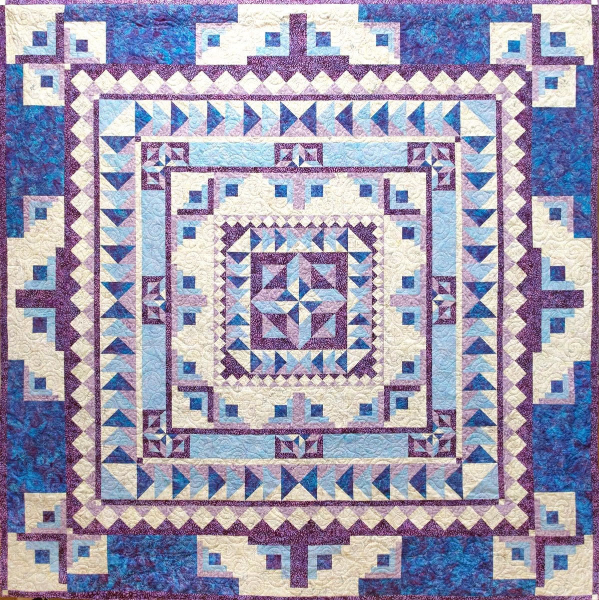 Crystal Memories by Stitches from Heaven-using Island Batiks- Quilt Kit 100x100