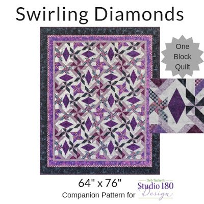 Swirling Diamond By Quilting Affections Designs-Quilt kit 64x76