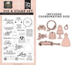 Echo Park - Our Love Story Die & Stamp Set