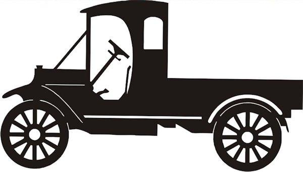 Petticoat Parlor - Vintage Truck Laser Die Cut