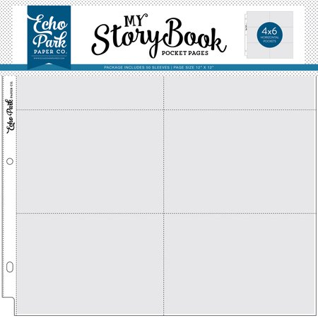 Echo Park - My Storybook Pocket Pages 4x6 Horizontal 50 count