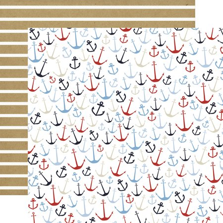 Carta Bella - Deep Blue Sea Anchors Aweigh 12x12 Paper