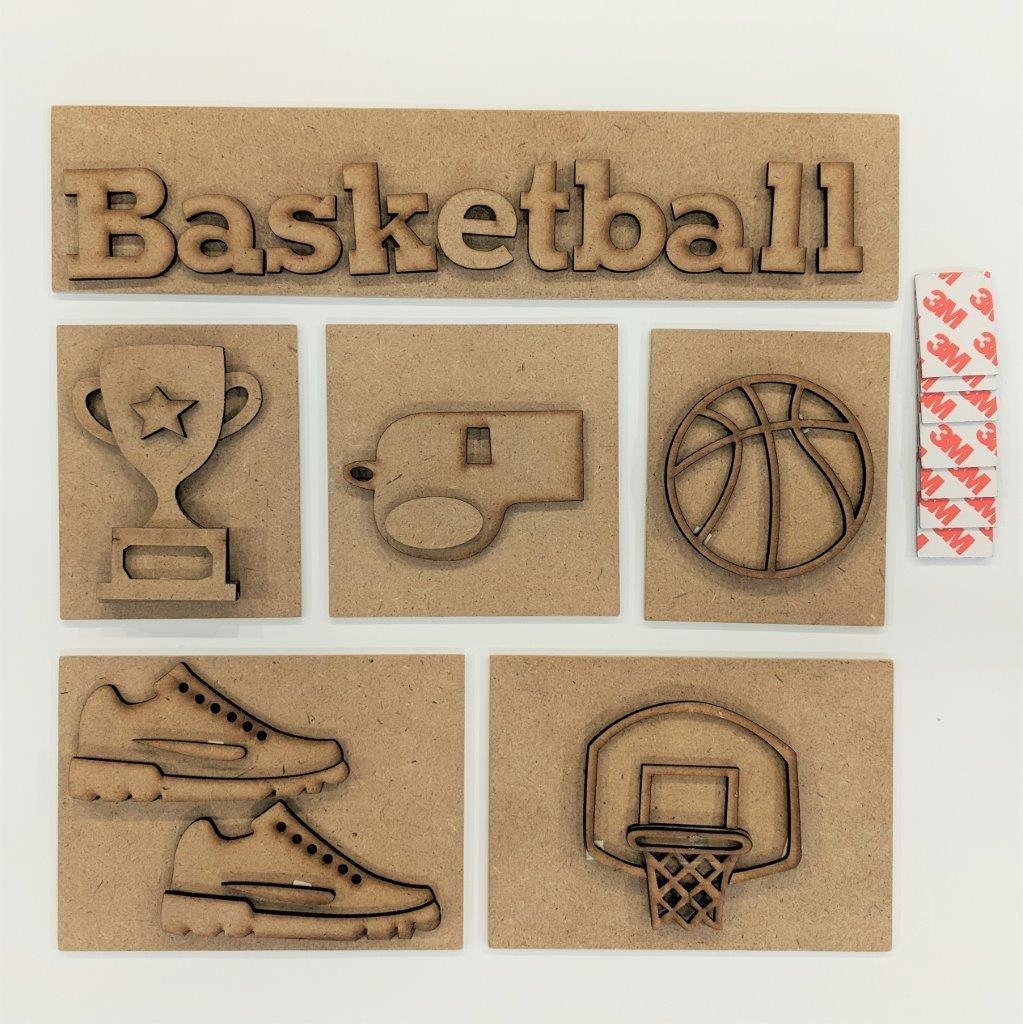 Foundations Decor - Basketball Shadow Box Kit