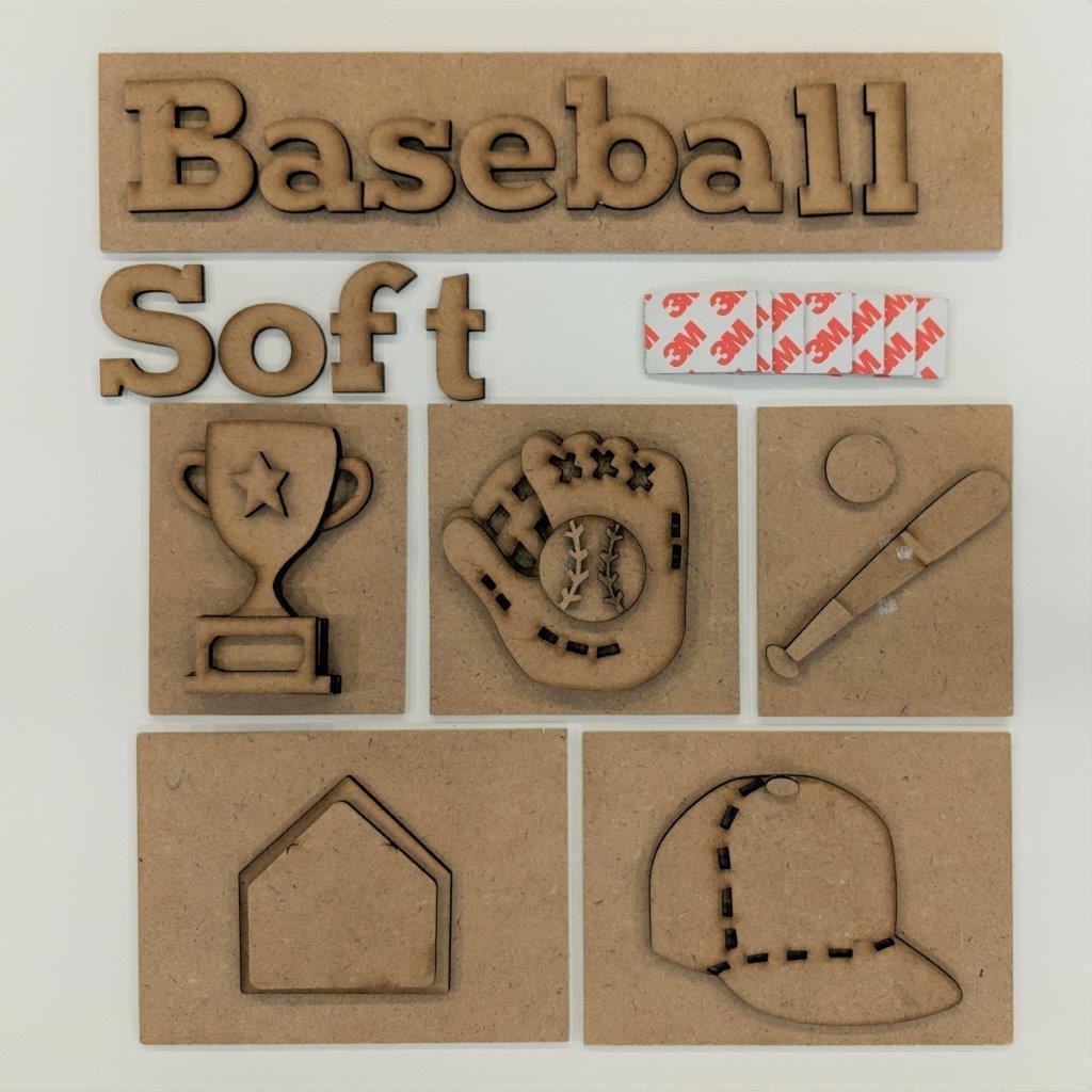 Foundations Decor - Baseball Shadow Box Kit