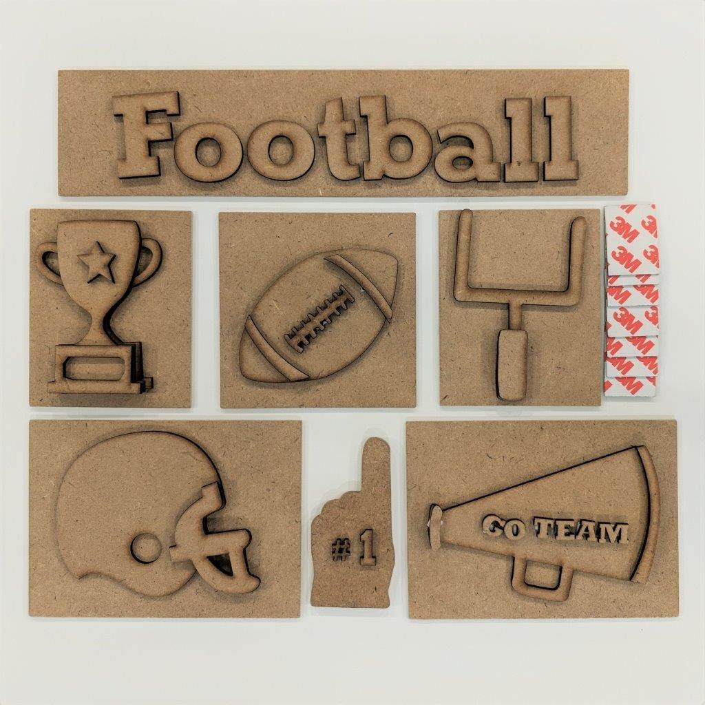 Foundations Decor - Football Shadow Box Kit