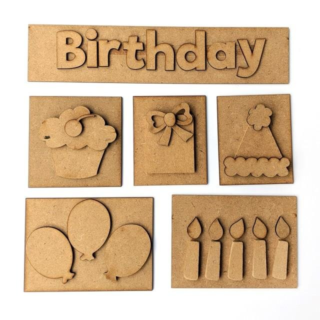 Foundations Decor - Birthday Shadow Box Kit