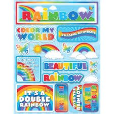 Reminisce - Over the Rainbow 3D Die Cut Stickers