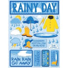Reminisce - Rainy Day 3D Die Cut Stickers