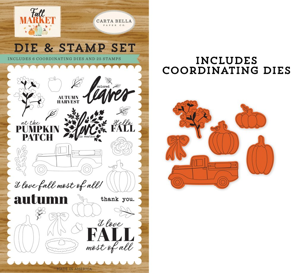 Carta Bella - Autumn Harvest Die & Stamp Set