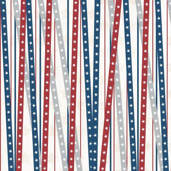 Scrapbook Customs-Patriotic Stripe 12x12