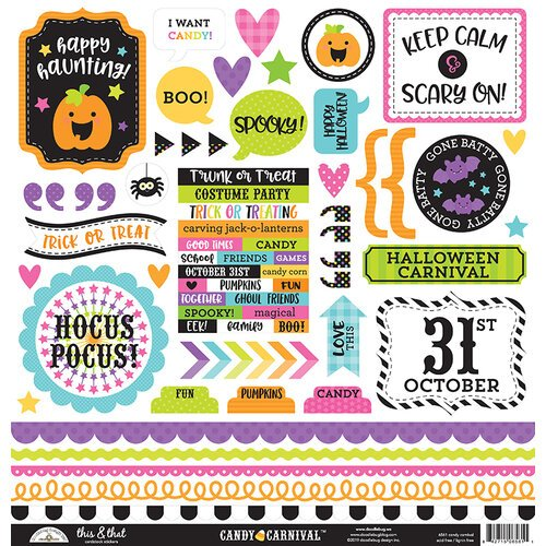 Doodlebug-Candy Carnival This And That sticker Sheet 12x12