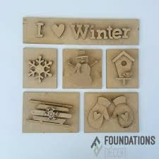 Foundations Decor - I Heart Winter Shadow Box Kit
