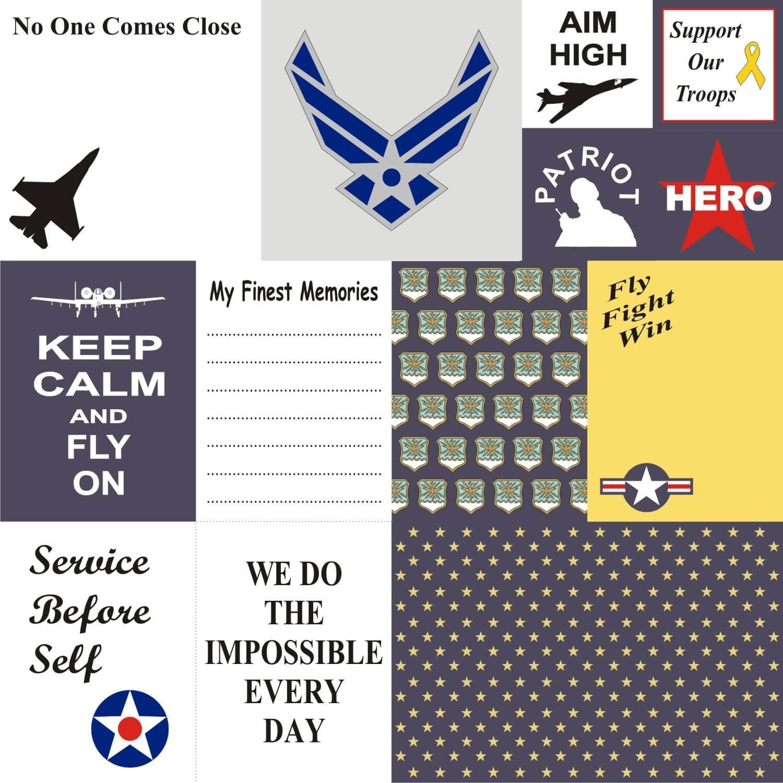 Petticoat Parlor - U.S Air Force Cards 12x12 Paper