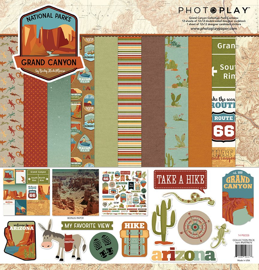 Photo Play-National Parks Grand Canyon 12x12 Collection Pack
