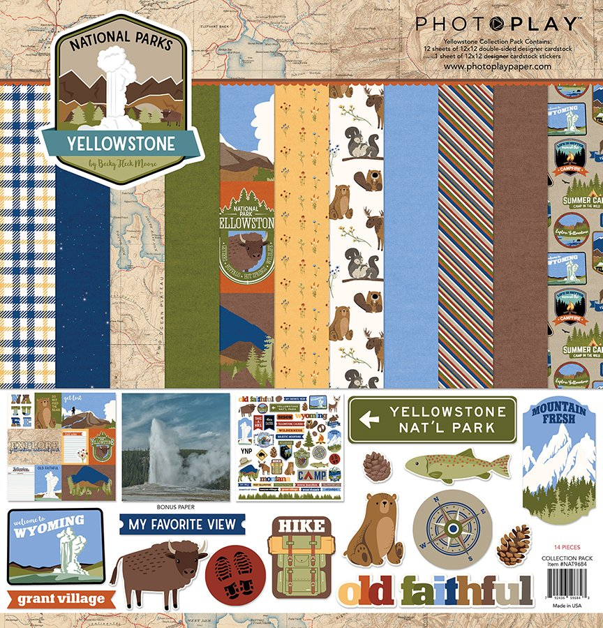 Photo Play-National Parks Yellowstone Collection Pack 12x12