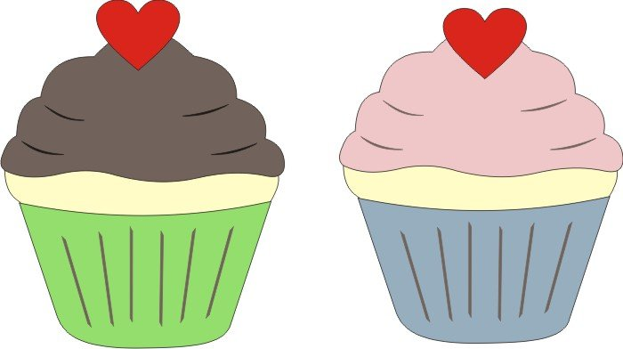 Petticoat Parlor - Vanilla Cupcakes Laser Die Cut