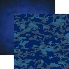 Reminisce - Navy 4 12x12 Psper
