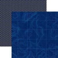 Reminisce - Navy 3 12x12 Paper
