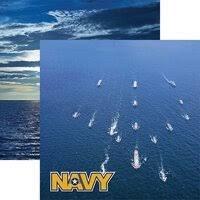 Reminisce - Navy 1 12x12 Paper