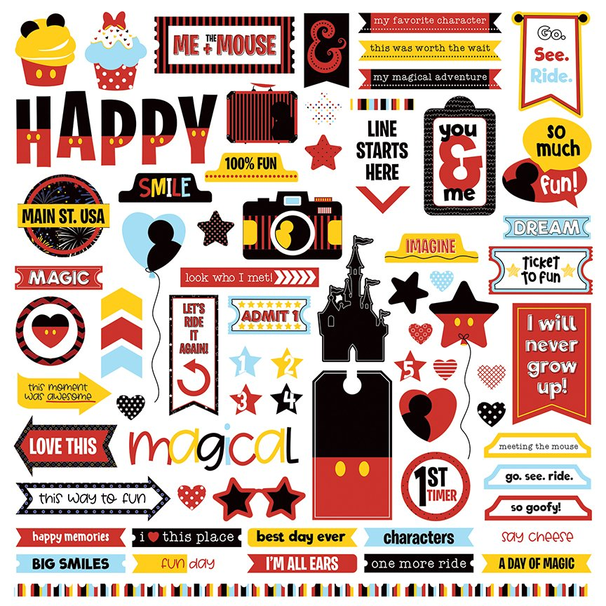 Photo Play - Another Day at the Park 12x12 Element Stickers